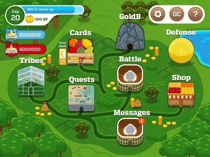 Fruitcraft app is a social trading card game